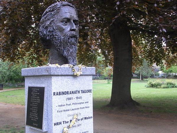 Memorial de Rabindranath Tagore en Gordon Squqre. Bloomsbury.Foto R.Puig