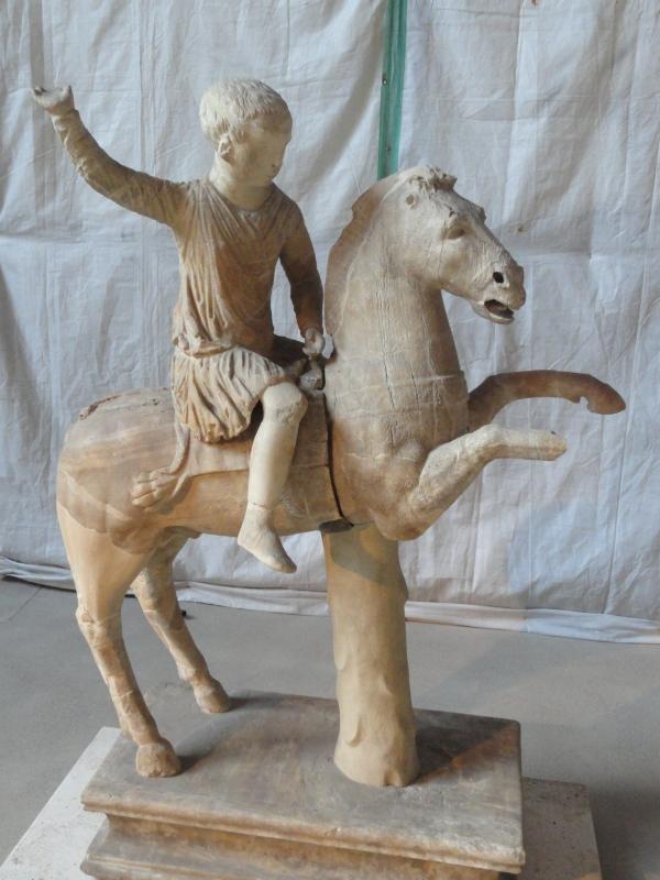 Muchacho romano a caballo.Museo delle Terme.Roma.Foto R.Puig