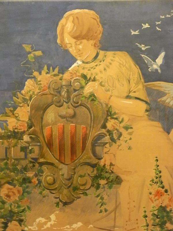 Per Sabadell. Cartel para la fiesta mayor. Domenec Soler Gili. 1911. Museo de Arte de Sabadell. Foto R.Puig
