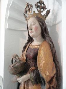 Santa Dorotea. Talla gotica alemana. Perfil.s.XVI.Millesgården.Foto R.Puig