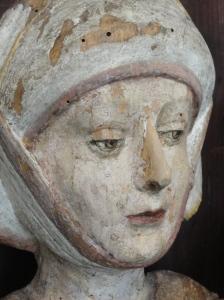Talla gótica alemana con la Virgen y el niño.Detalle.Millesgården.Foto R.Puig