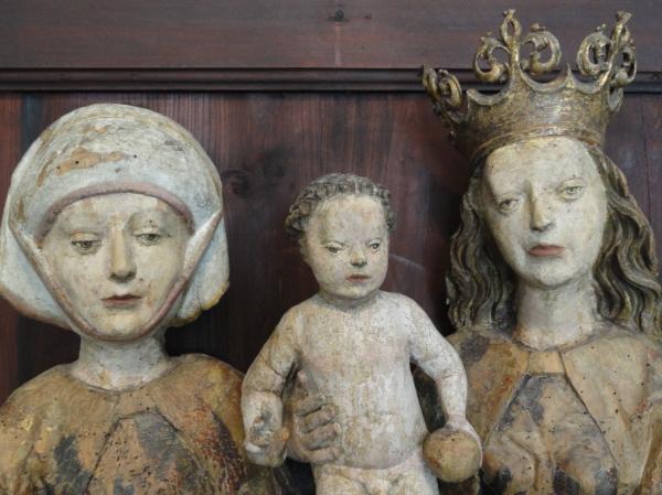 Talla gótica alemana con la Virgen y el niño.Millesgården.Foto R.Puig