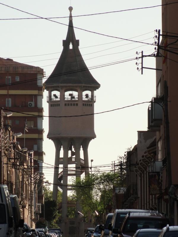 Torre del agua Sabadell.Foto R.Puig
