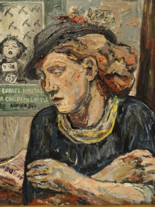 Albin Amelin Mujer de un cartel español.1937.Moderna Museet.Estocolmo.Foto R.Puig