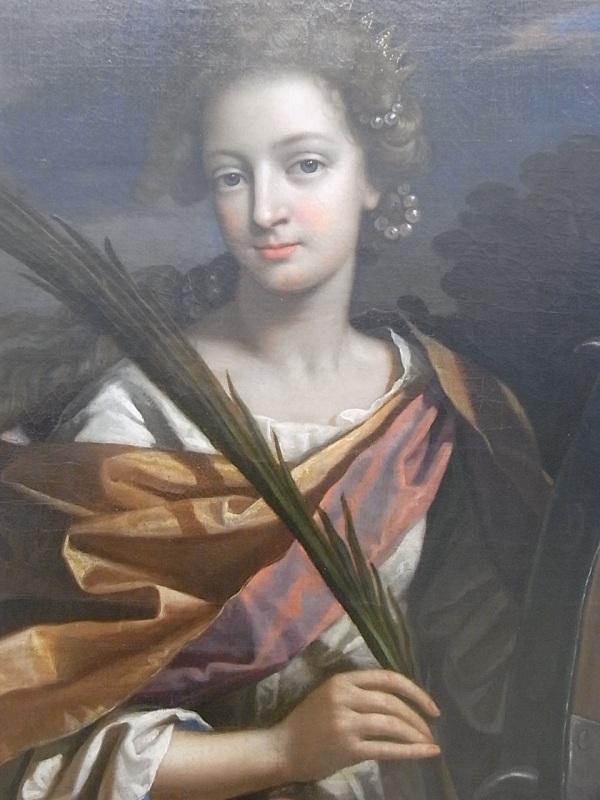 Benedetto Gennari. La catolica Elizabeth Panton en el exilio retratada como Santa Catalina.Tate Britain.Foto R.Puig.