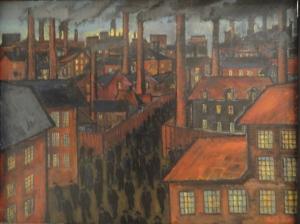 Carl Josef Alexanderson. Salida de los trabajdaores de las fábricas.1931.Detalle.Moderna Museet.Estocolmo.Foto R.Puig.JPG