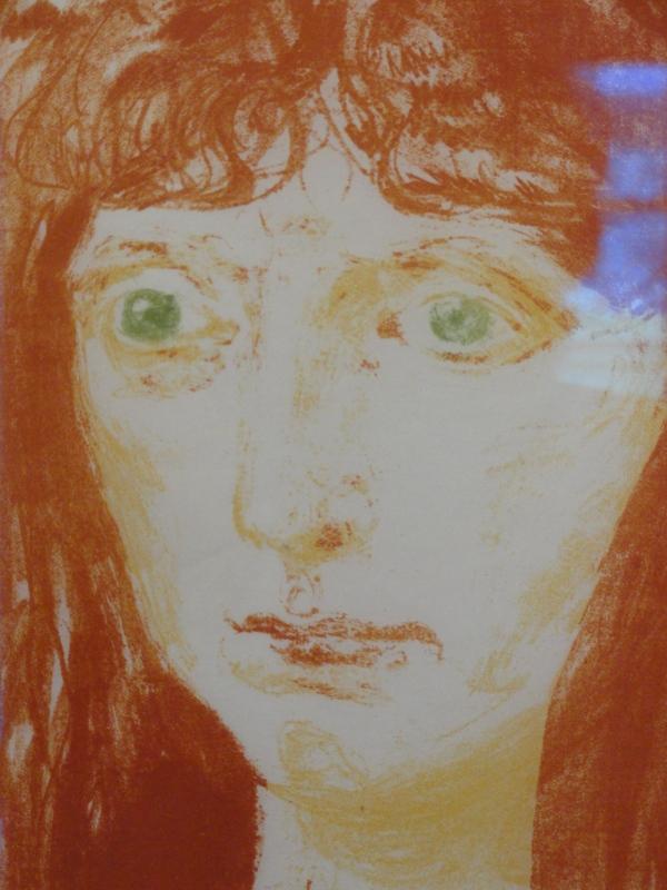 Eduard Munch. Detalle de retrato.Museo Sven Harris.Estocolmo Foto R.Puig