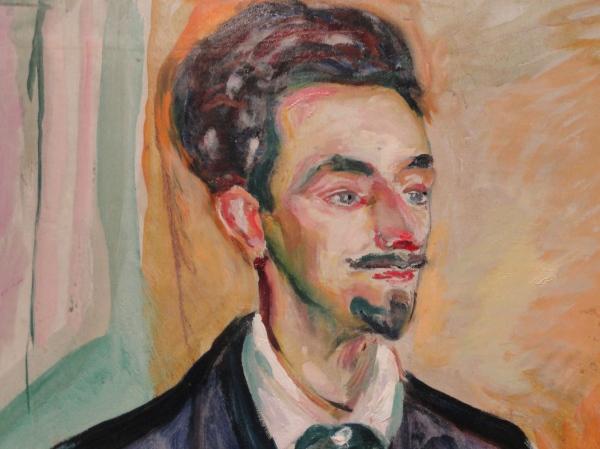 Edvard Munch. Retrato de Helge Rode. 1908. Detalle.Moderna Museet.Estocolmo.Foto R.Puig