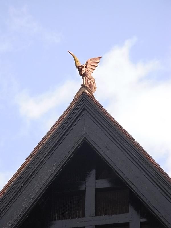 El dragón del tejado.Leicester. Foto R.Puig