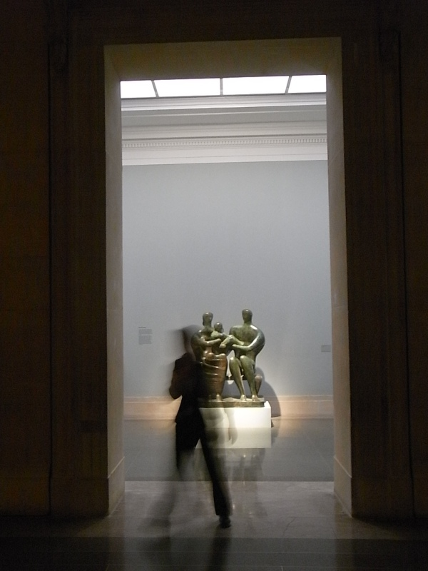 Entrada a la sala de Henry Moore.Tate Britain.Foto R.Puig