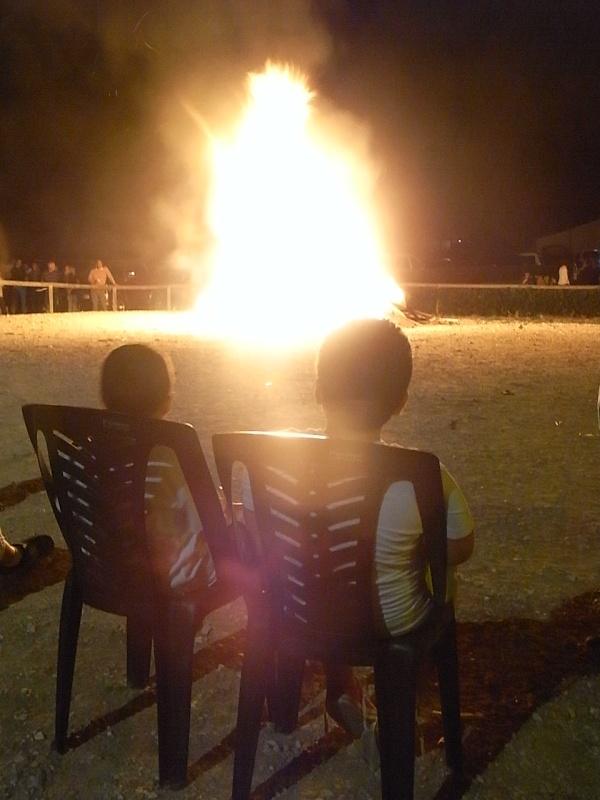 Fogueres de San Joan. Els Poblets. Foto R.Puig.