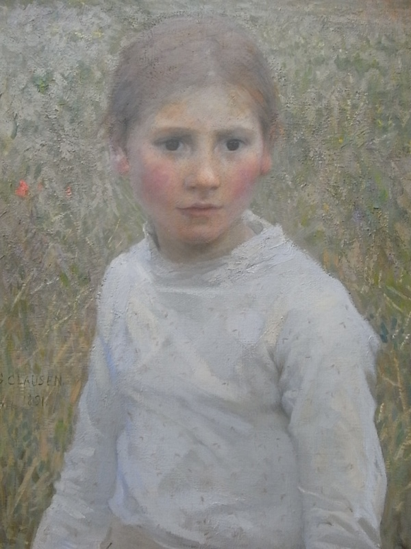 George Clausen. Brown eyes.Tate Britain.Foto R.Puig.