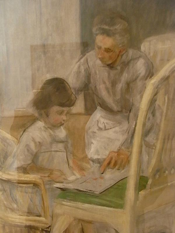 Max Liebermann. La nieta del artista con su niñera. 1919.Museo Leicester. Foto R.Puig