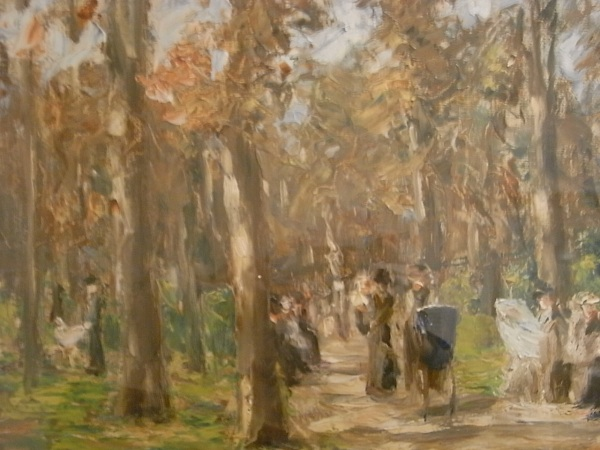 Max Liebermann. Paseo en el Tiergarten.Museo Leicester. Foto R.Puig