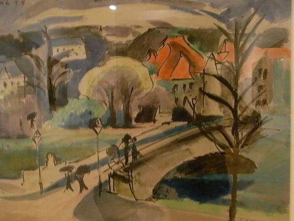 Max Pechstein. El puente de Erfurt. 1919.Museo Leicester. Foto R.Puig