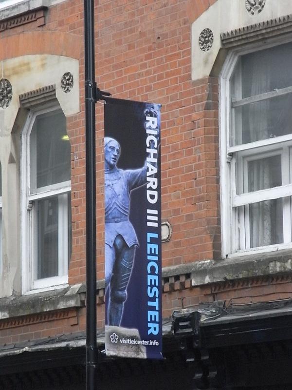 Richard III en las calles de Leicester.Foto R.Puig