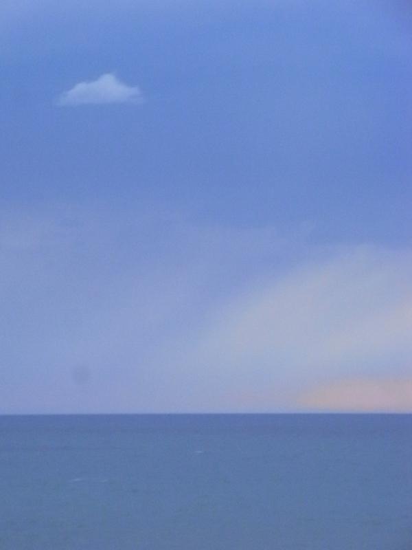 Tarde de tormenta sobre el mar. Foto R.Puig.