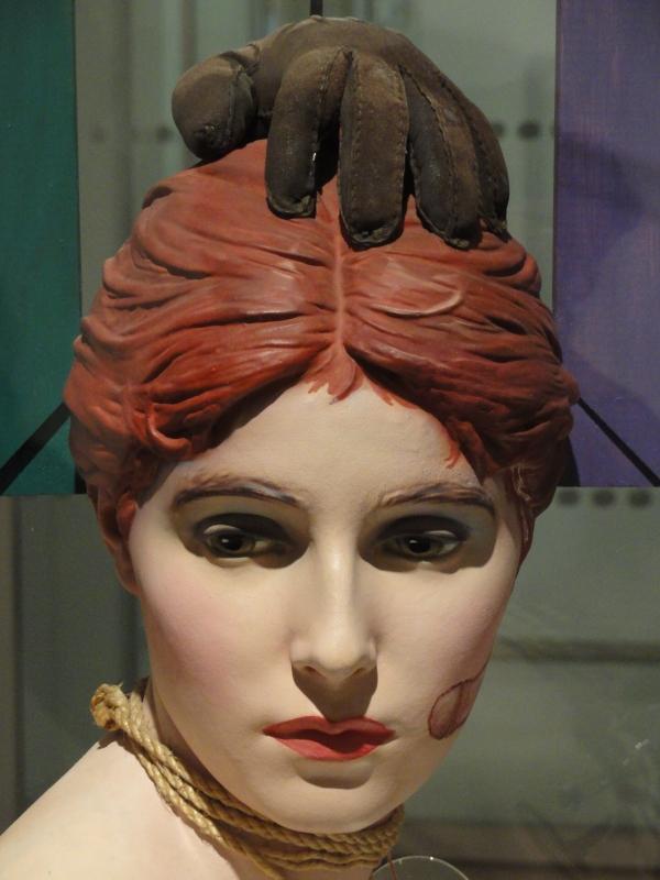 Wilhelm Freddie. Detalle de busto Sex-Paralysappeal.1936.Moderna Museet. Estocolmo.Foto R.Puig