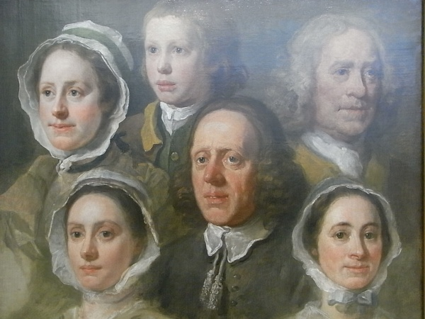 William Hogarth. Seis de sus criados.Tate Britain.Foto R.Puig
