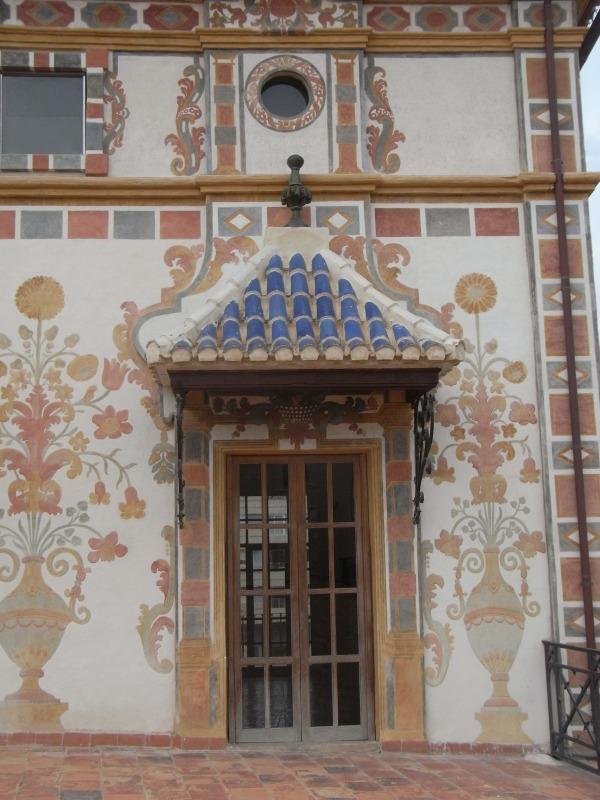 Acceso a la terraza. Palacio Ducal. Gandía. Foto R.Puig.