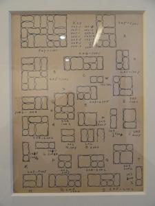 Combinatoria de la Serie Louisenberg. Dibujo deTony Smith. Toulouse Les Abattoirs. 2013.Foto R.Puig