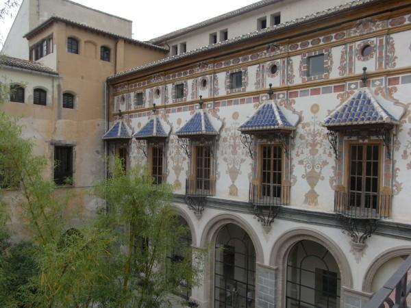 Patio interior del Palacio Ducal. Gandía. Foto R.Puig.