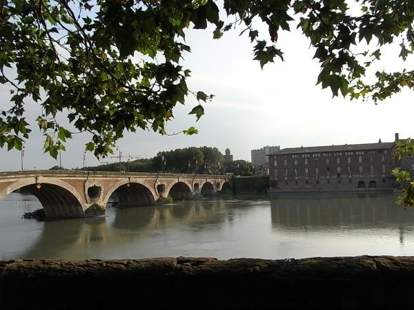 Pont Neuf y antiguo hospital desde la Escuela de Bellas Artes. Toulouse Foto R.Puig.