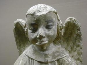 Angel trompetista. s.XV. Les Augustins. Foto R.Puig.