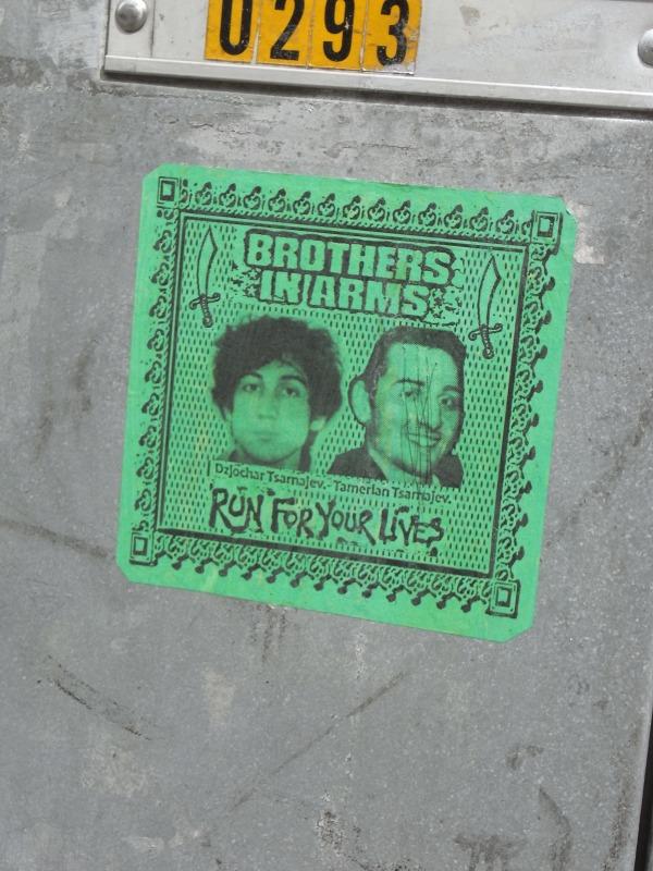 Apologia de los hermanos Tsarnajev en calle de Gotemburgo