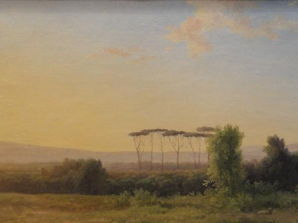 Campiña romana. Pierre Henri de Valenciennes.s.XIX. Les Augustins. Foto R.Puig.