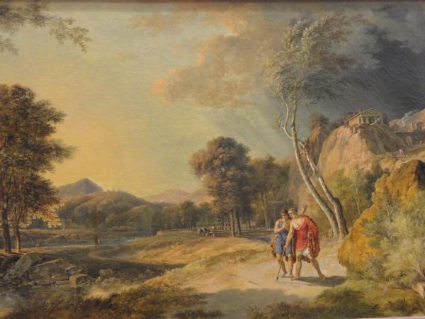 Ciceron descubre la tumba de Arquimedes. Pierre Henri de Valenciennes. 1787.Museo de Les Augustins. Foto R.Puig.