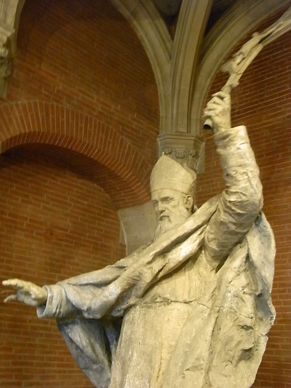 El cardenal Lavigerie hacia 1898 por Alexandre Falguiere. Les Augustins. Foto R.Puig.