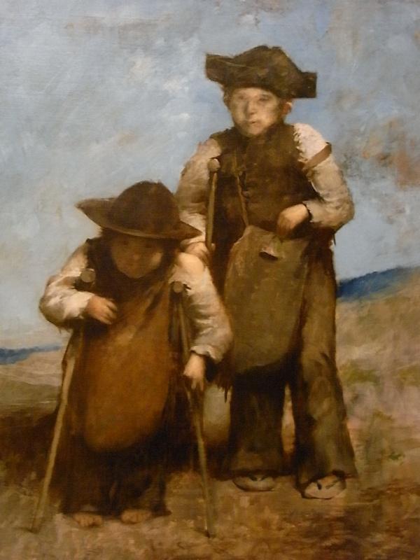 Enanos españoles con muletas. Alexandre Falguiere. c. 1880. Les Augustins.