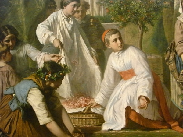 Fiesta del Corpus. Alexandre Antigna. 1855.Les Augustins. Foto R.Puig.