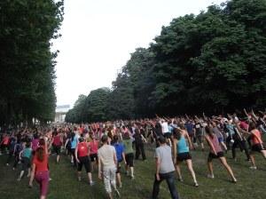 Gimnasia sueca en el Parque del Cincuentenario. Bruselaas. Foto R.Puig.