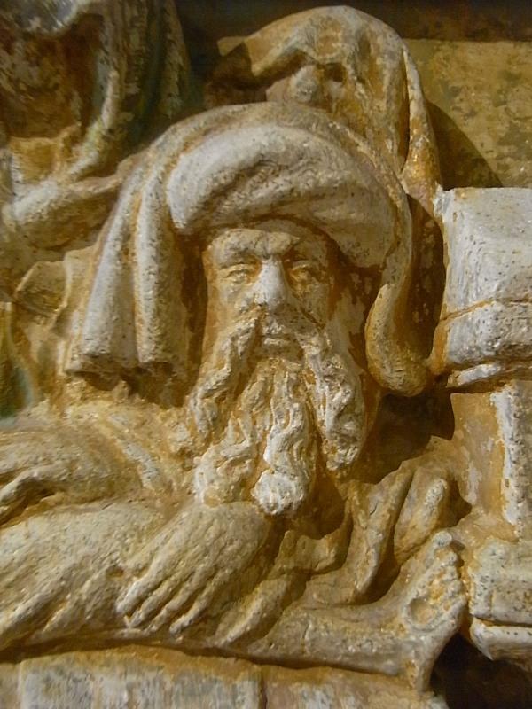 Jose de Arimatea. Detalle de Sepelio de Cristo. s.XV. Les Augustins. Foto R.Puig.