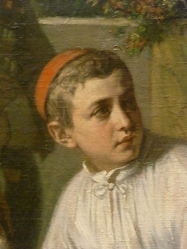 Monaguillo de la Fiesta del Corpus . Alexandre Antigna. 1855.Les Augustins. Foto R.Puig.