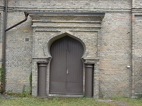 Puerta de la capilla. Cementerio judio. Gotemburgo. Foto R.Puig.