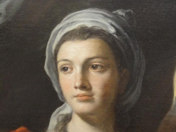 Retrato de mujer. Francesco Solimena. ss.XVII a XVIII. Les Augustins. Foto R.Puig.