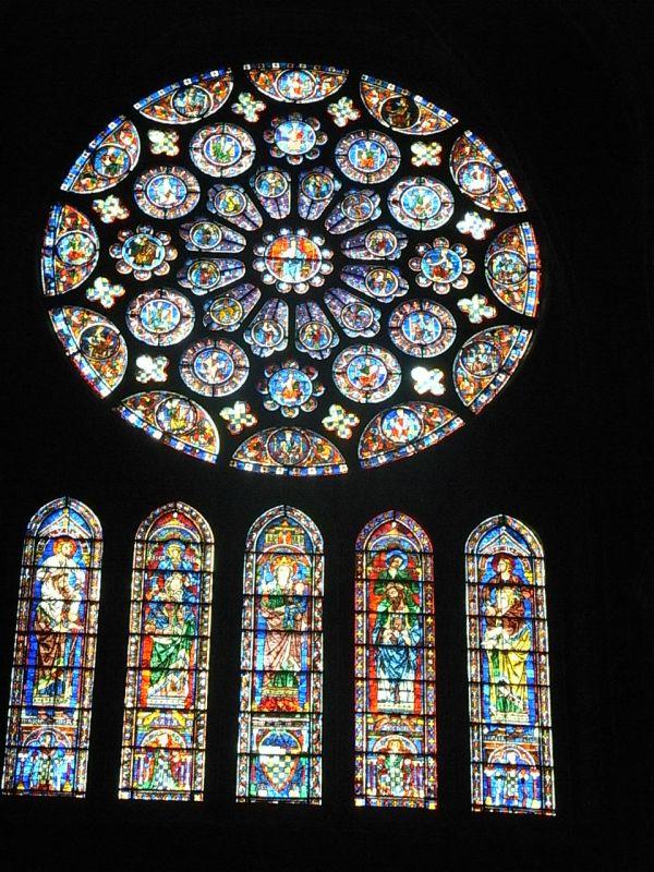 Roseton del coro. Chartres. Foto R.Puig.
