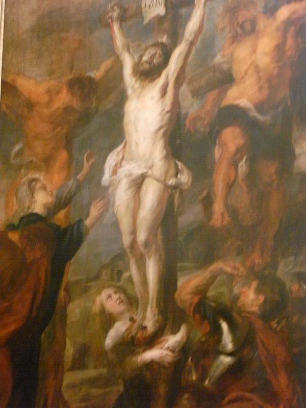 Rubens. Cristo y los ladrones.1635.  Altar de los Capuchinos de Amberes. Botin imperial. 1805. Foto R.Puig..