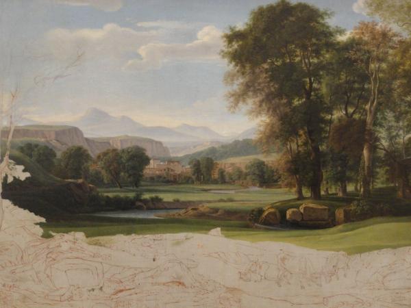 Valle del Tiber. Nicolas Didier Boguet.ss.XVIII a XIX. Les Augustins. Foto R.Puig.