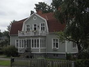 Vivienda tradicional sueca en Nybro. Foto R.Puig.
