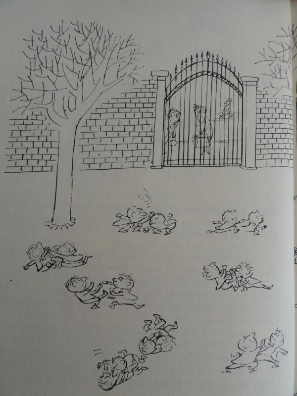 Añorados dulces patios de mi colegio. Los recreos del pequeño Nicolas. Goscinny y Sempé. Ed. Alfaguara 1979