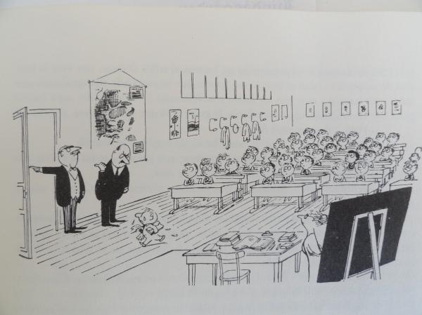 Alcestes expulsado de la clase. Goscinny y Sempé. Los recreos del pequeño Nicolás. Ed. Alfaguara 1979