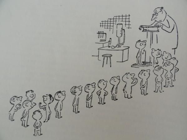 El examen médico. Goscinny y Sempé. Los recreos del pequeño Nicolás. Ed. Alfaguara 1979