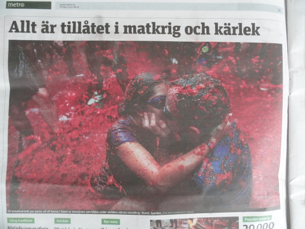 El tomate español en la prensa de Gotemburgo.