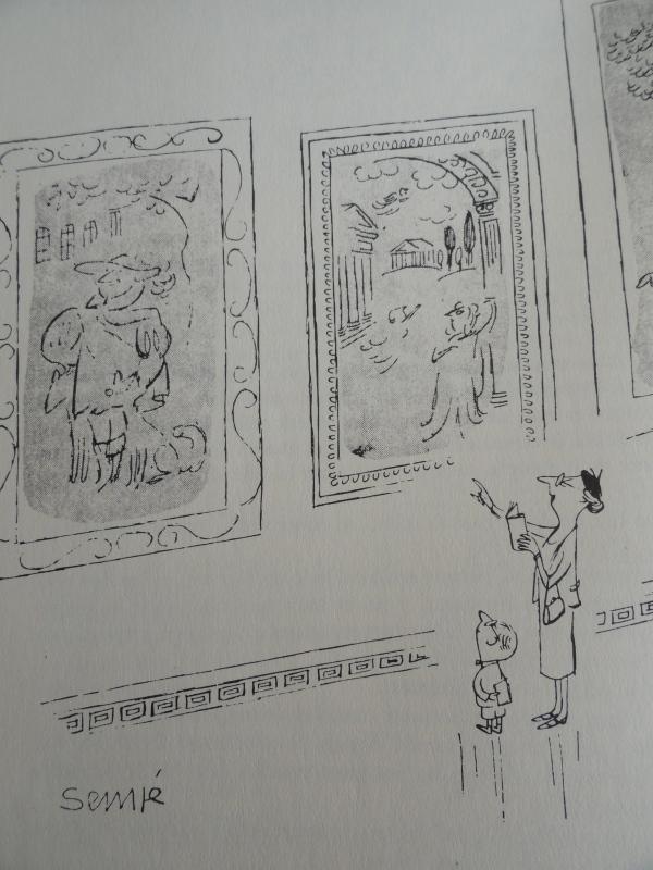 En el museo. Goscinny y Sempé .Los recreos del pequeño Nicolás. Ed. Alfaguara 1979
