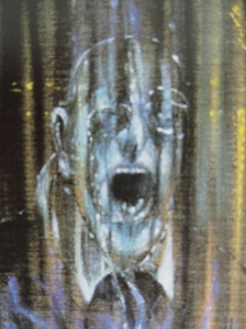 Francis Bacon. Estudio de Inocencio X segun Velazquez. Detalle. 1953. Des Moines Art Center.