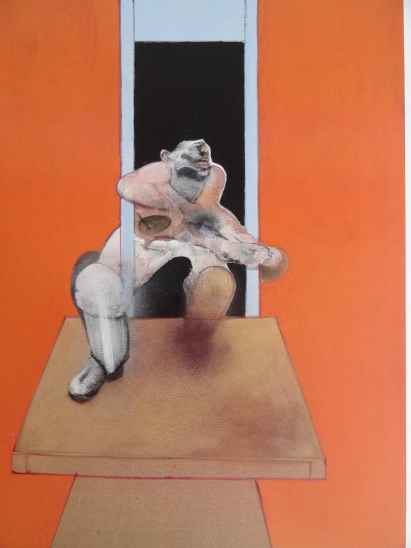 Francis Bacon. Figura en movimiento. 1985. Coleecion particular.